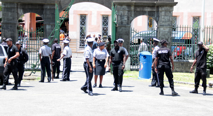 There Was Strong Police Presence Near The Court Precinct. (Iwn Photo)