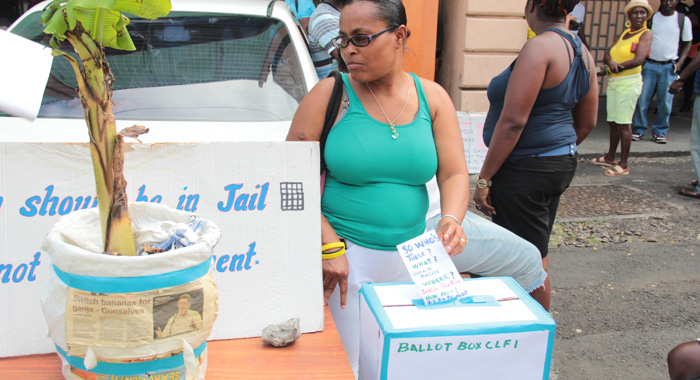 The Court Ruling Did Not Seem To Have Much Of An Impact On The Number Of Protesters Or Intensity Of The Protest Outside The Electoral Office. (Iwn Photo)