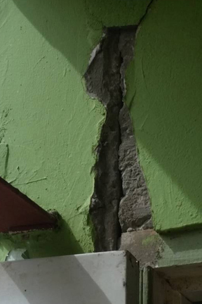 One Of The Crack In The School Building. (Photo: Facebook)