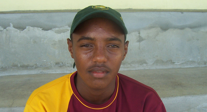 Sunil Ambris Days After Scoring His First Premier Division Century As A 15-Year-Old.