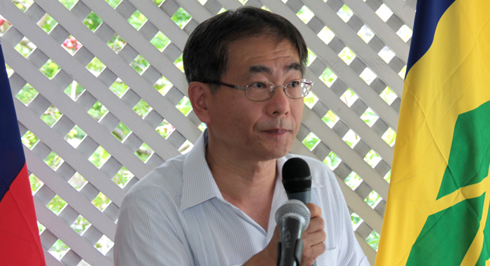 Taiwan's Ambassador To Svg, Baushuan Ger, Speaks At The Luncheon. (Iwn Photo)