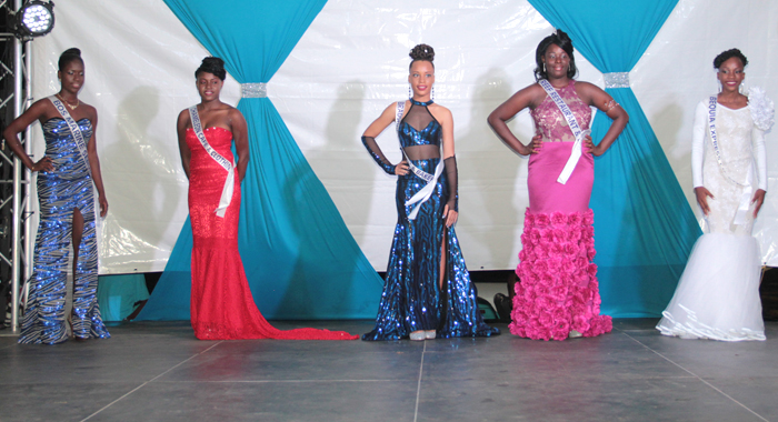 Miss Bequia 2016 Contestants In Evening Wear. (Iwn Photo)