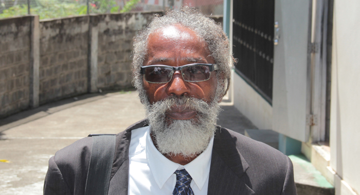 Prosecutor Carl Williams Leaves The Serious Offences Court In Kingstown After Tuesday'S Proceedings. (Iwn Photo)