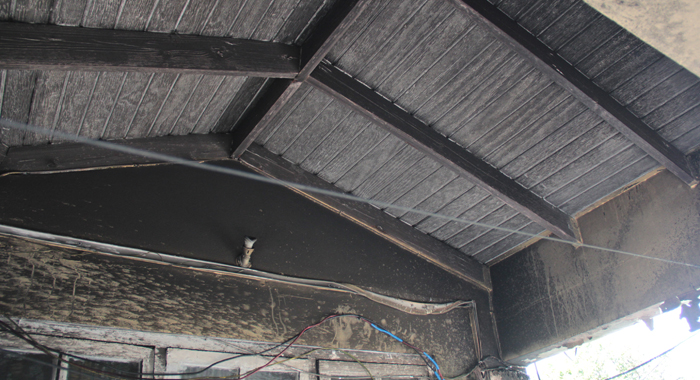 The Fire Also Damaged Parts Of The Roof Of The House. (Iwn Photo)