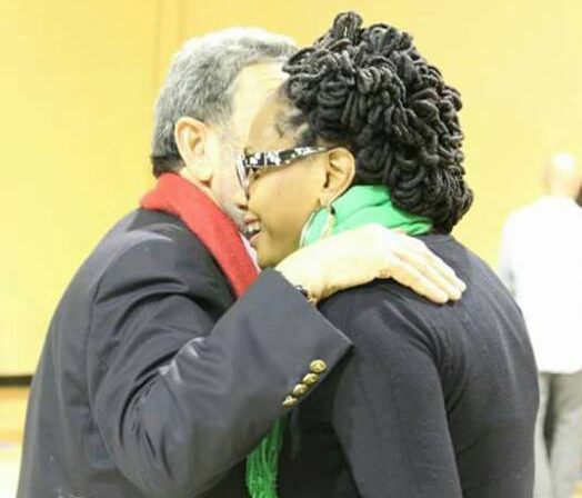 Prime Minister Gonsalves, Left, And Miranda Wood Interact At His Town Hall Meeting In New York Last Year. The Woman Said Saturday Night That Gonsalves Had &Quot;Attacked&Quot; Her When She Was 15 Years Old.