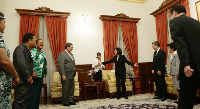 Prime Minister Gonsalves And President Tsai.