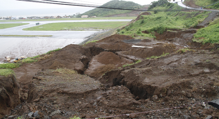 There Are Also Large Cracks In The Soil Below The Raod. (Iwn Photo)