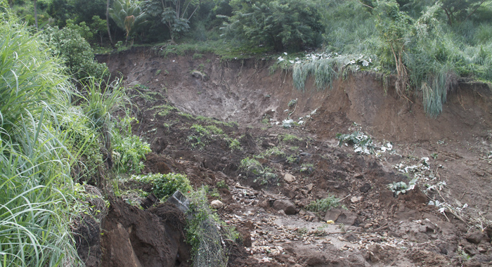 The Landslide Took A Chunk Of The Hillside With It. (Iwn Photo)