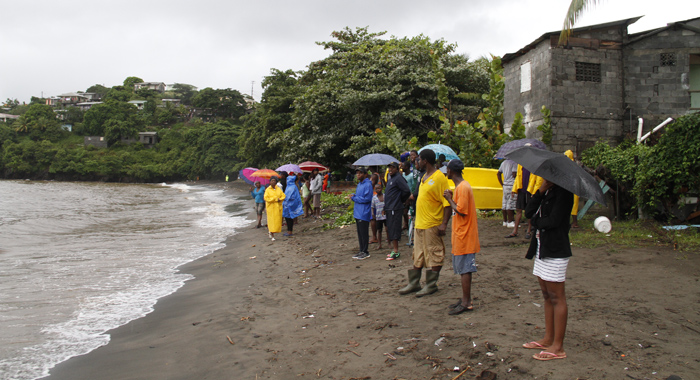 Onlooker At Roucher Bay, Where One Boy Was Swept Out At Sea And His Younger Brother Remains Unaccounted For. (Iwn Photo)