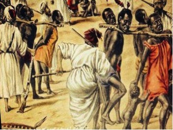 Arab Slave Traders And Their Captives