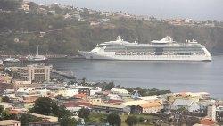Cruise Ship In Kingstown