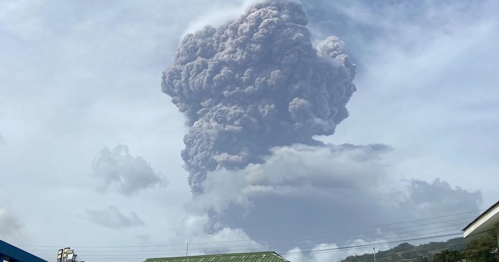 La Soufriere Eruption
