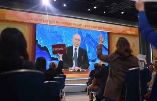 Корреспондент Би-би-си вышел из зала после ответа Путина