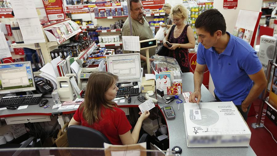 customer at the checkout
