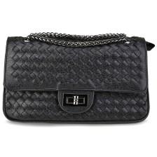 Μαύρη τσάντα ώμου με αλυσίδα 1399