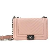 Ροζ τσάντα ώμου με αλυσίδα 2002