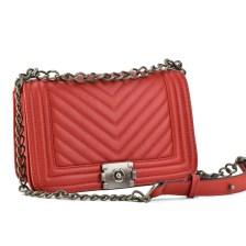 Κόκκινη τσάντα ώμου με αλυσίδα 2002