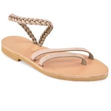 Δερμάτινο μπεζ σανδάλι με κοτσίδα Iris Sandals IR4/13