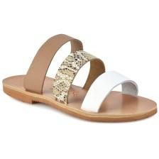 Δερμάτινη μπεζ σαγιονάρα Iris Sandals IR4/2