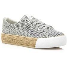 Γκρι sneakers με δίχτυ και ψάθα MTNG 69155