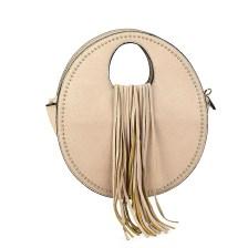 Εκρου τσάντα χειρός με κρόσσια 6933