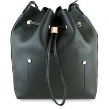 Μαύρη τσάντα πουγκί Fraless 9376