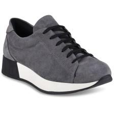Γκρι δερμάτινα sneakers HiLo A10