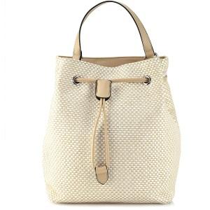 Ασπρη μπέζ τσάντα πουγκί Α234