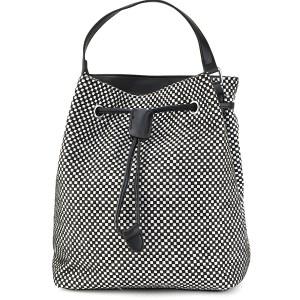 Ασπρόμαυρη τσάντα πουγκί Α234