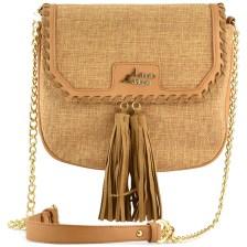 Καμελ υφασμάτινη τσάντα ταχυδρόμου Adonio Adriano AD130