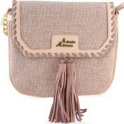 ADONIO ADRIANO Ροζ υφασμάτινη τσάντα ταχυδρόμου Adonio Adriano AD130 2018