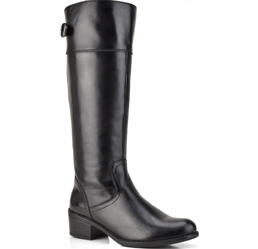 Δερμάτινη μαύρη μπότα Bussola ALICE