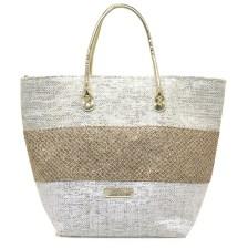 Χρυσή τσάντα θαλάσσης MariaMare AZUL