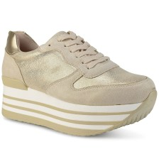 Μπεζ/Χρυσό sneakers B167