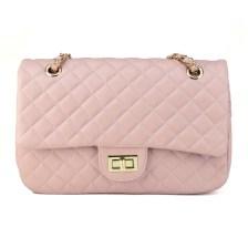 Ροζ τσάντα ώμου David Jones CM3791