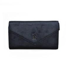 Μαύρο βελούδινο πορτοφόλι Diana & co. DFX299-3