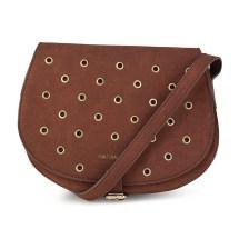 Καφέ τσάντα ταχυδρόμου MariaMare EUGENIA