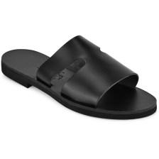 Δερμάτινη μαύρη σαγιονάρα Iris Sandals IR8/19