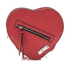 Κόκκινη τσάντα καρδιά MTNG KHAKI