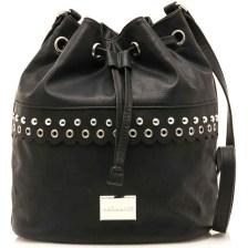 Μαύρη τσάντα πουγκί MariaMare Laura