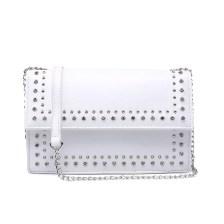 Λευκή τσάντα ώμου με αλυσίδα 8433