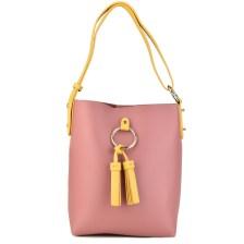 Ροζ τσάντα ώμου Nathalie