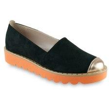 Μαύρο σουέντ Slip on Beatrice R010