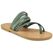 Tsakiris Sandals Δερμάτινη πράσινη σαγιονάρα Tsakiris Sandals TS1025 2018