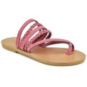 Tsakiris Sandals Δερμάτινη ροζ σαγιονάρα Tsakiris Sandals TS1025 2018