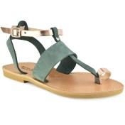 Tsakiris Sandals Δερμάτινο πράσινο σανδάλι Tsakiris Sandals TS608 2018