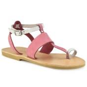 Tsakiris Sandals Δερμάτινο ροζ σανδάλι Tsakiris Sandals TS608 2018