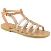 Tsakiris Sandals Δερμάτινο σανδάλι σε φυσικό χρώμα Tsakiris Sandals TS651 2018