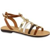 Δερμάτινο πολύχρωμο σανδάλι Tsakiris Sandals TS651