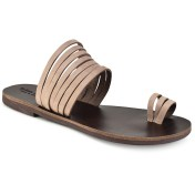 Tsakiris Sandals Δερμάτινη καφέ σαγιονάρα Tsakiris Sandals TS920 2018